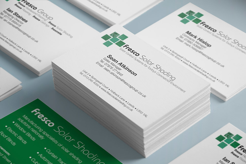 FRECO SOLAR SHADING BUSINESS CARDS