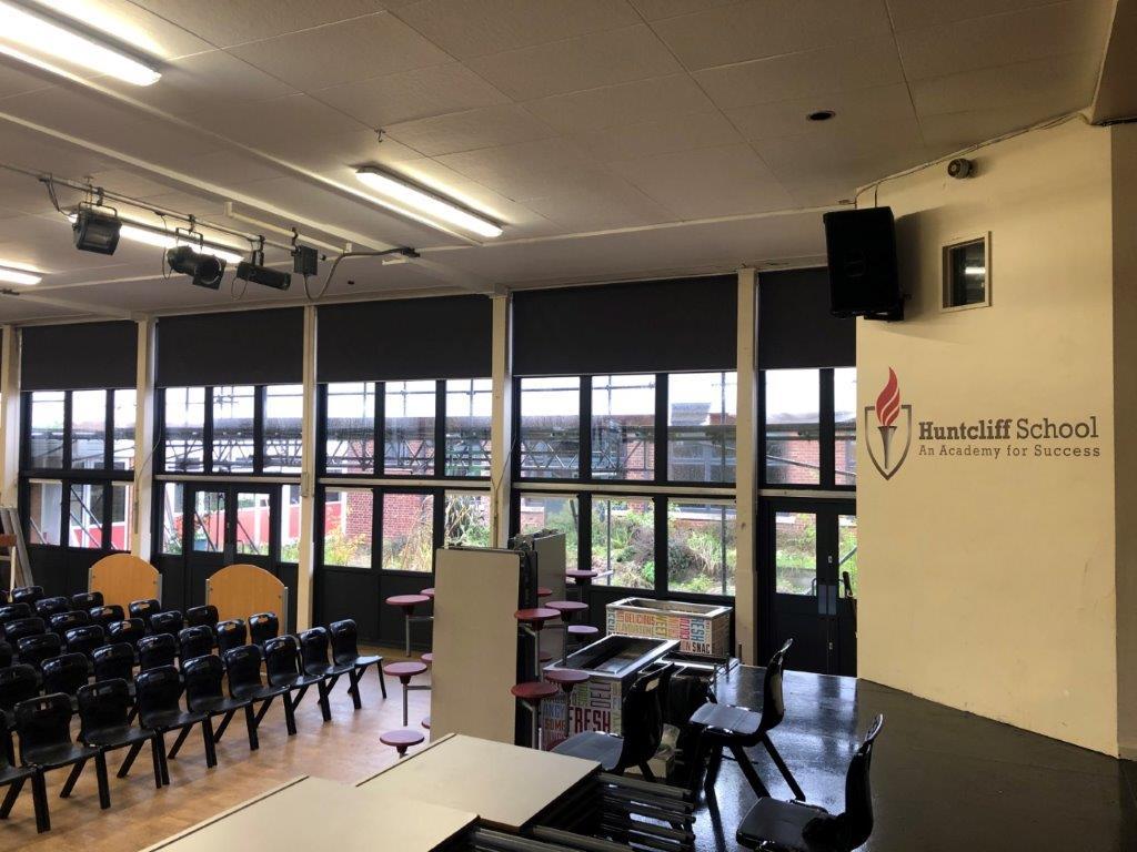 solar glare solution Huntcliffe School